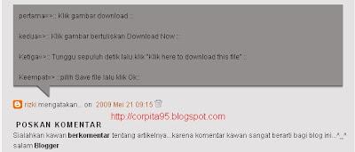 Komentar Khusus Untuk Pemilik Blog