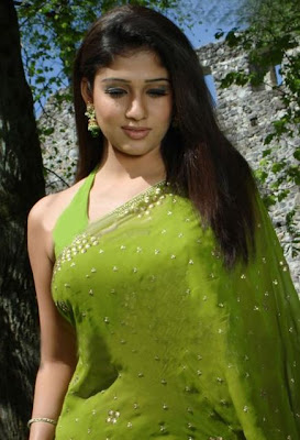 nayanatara in green saree