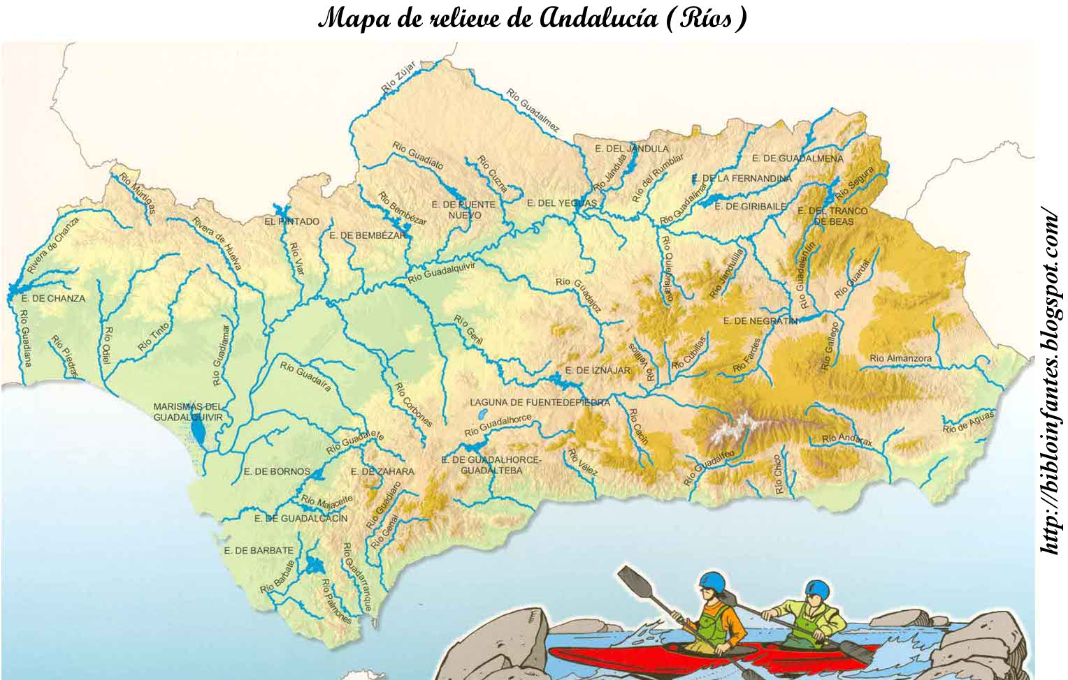 Mapa Rios Andalucia  My blog