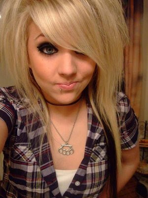 blonde emo hairstyles. Beautiful Long Blonde Emo Girl