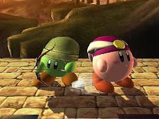 Kirby Link y Kirby Zelda