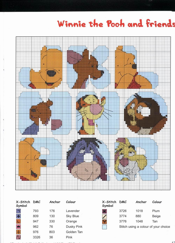 Sogniecoccole schemi gratis alfabeto winnie the pooh e for Winnie the pooh punto croce schemi