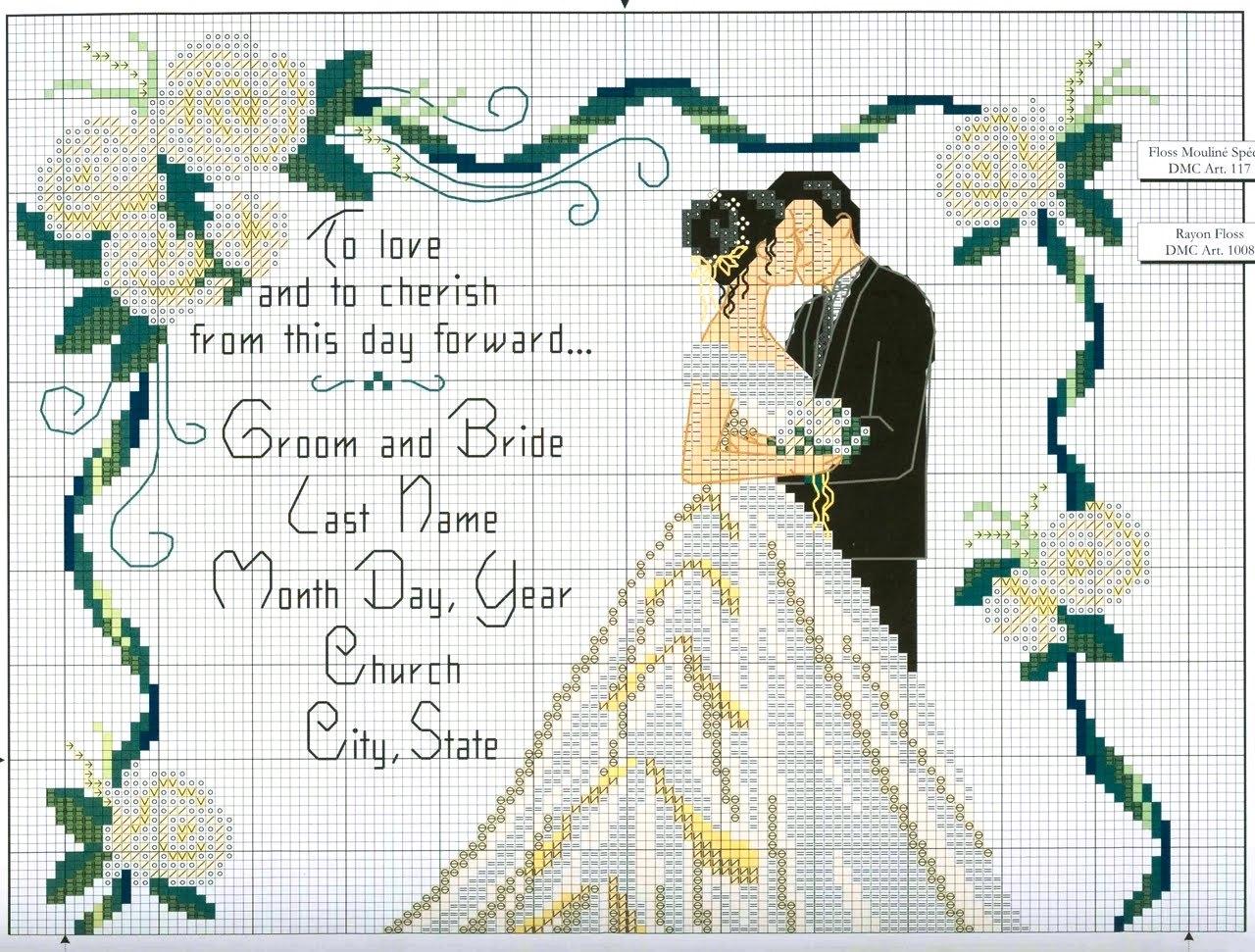 Popolare Sogniecoccole Schemi Gratis: Schemi matrimonio NR75