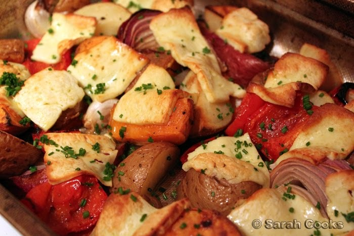 Sarah cooks nigella lawson 39 s double potato and halloumi bake for Canape ideas nigella