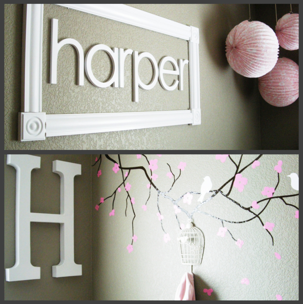 Ideas to inspire a pink and brown modern nursery bobo 39 s for Baby name nursery decoration