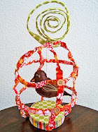 Fabric bird cage tutorial