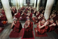 Monks Myanmar Burma pray