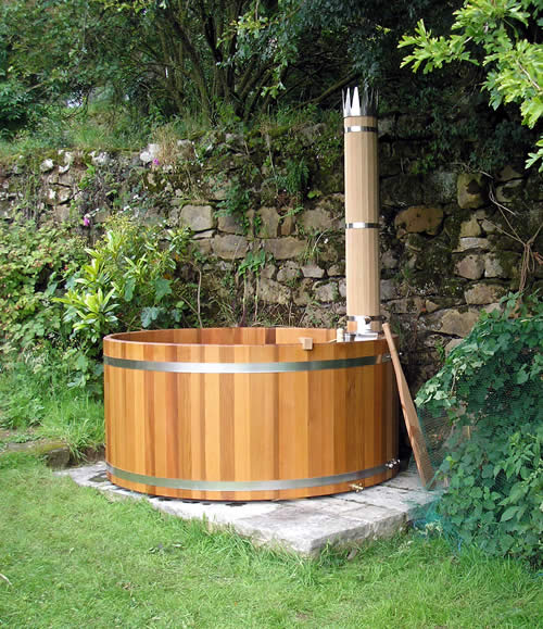 jacuzzi de madera forest flame