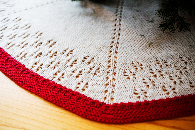 Easy Knitting Pattern For Christmas Tree Skirt : I am what knit