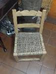 Silla Matera, madera de Chañar y cuero