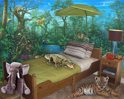 Bedroom design jungle home decoration live for Forest themed bedroom ideas