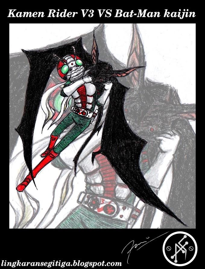Kamen Rider V3 <font color=#ff0000>VS</font> Bat-Man