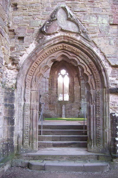 Our Lady of Tintern set on her plinth
