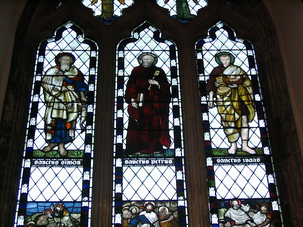Three Saints Stained glass