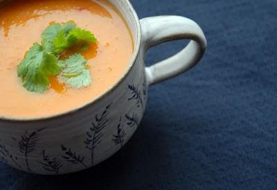 sopa de zapallo y naranja
