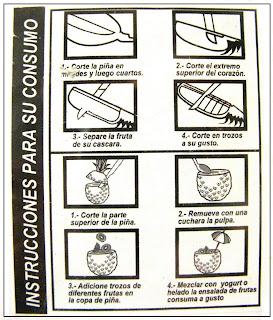 instrucciones para comer un ananá