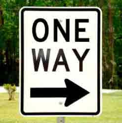 One Way Highway Sign, image courtesy of ricesigns.com