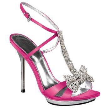 Womens Icora Bows Heel - Bright Pink