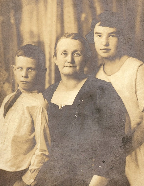 Belle Luckett Southard & her two children