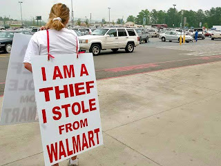 Walmart thief shaming