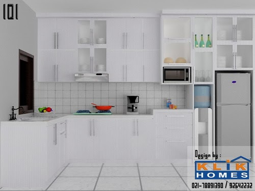 Harga Kitchen Set: Kitchen Set Dengan Tema Warna Putih