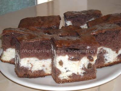 Articole culinare : Prajitura cu branza si cacao