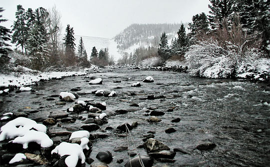 Fider tehnika zimi Zimski-ribolov