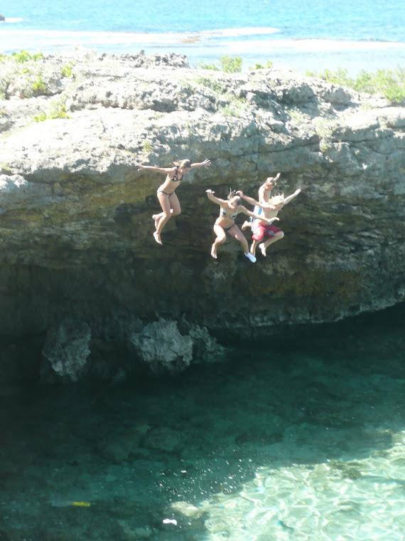 petit saut de falaise !