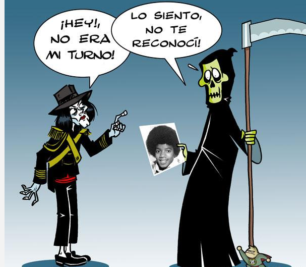 CHISTE GRÁFICO:MICHAEL JACKSON NO TE RECONOCÍ