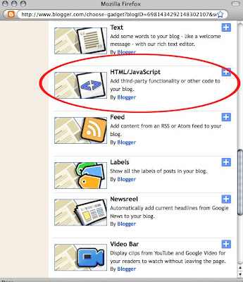 how to add links to blogger gadget