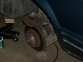 Buick with brakes off
