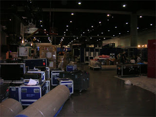 The Expo Floor being set up