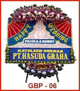 bunga papan ucapan untuk acara perkawinan