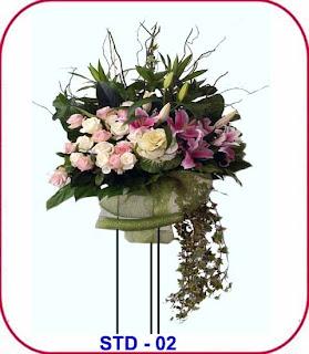 bunga standing untuk ulang tahun
