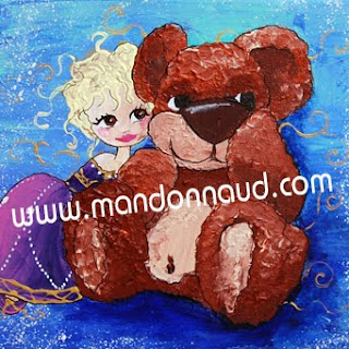illustration de nounours et princesse