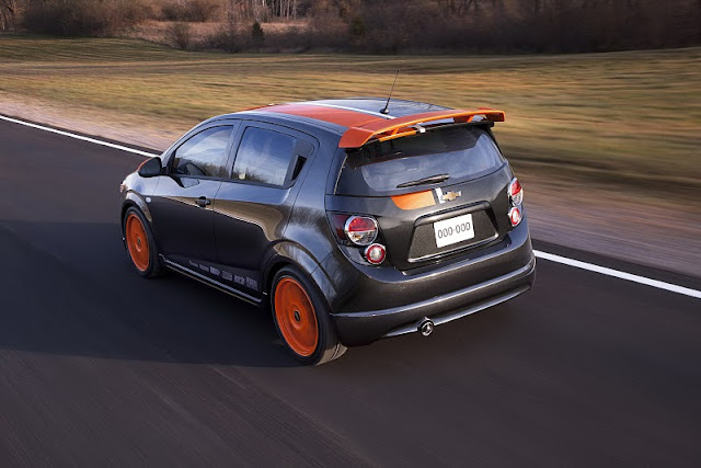 2011 chevrolet sonic z spec concept rear angle view 2011 Chevrolet Sonic Z Spec