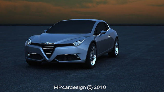 2011 alfa romeo sports coupe concept front angle view 2011 Alfa Romeo Sports Coupe