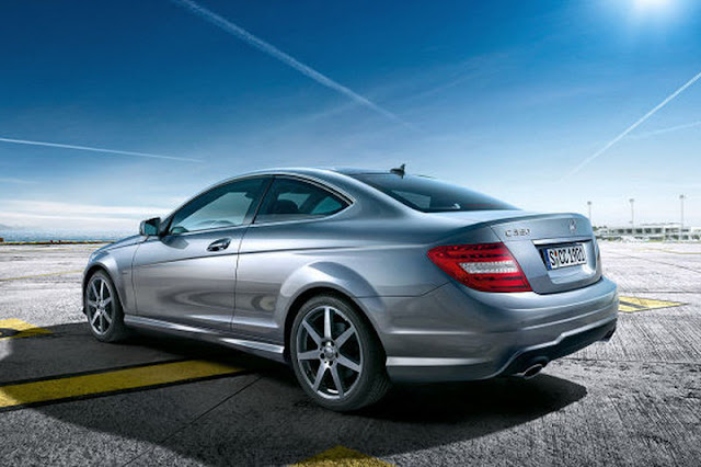 2012 mercedes benz c class coupe rear angle view 2012 Mercedes Benz C Class Coupe