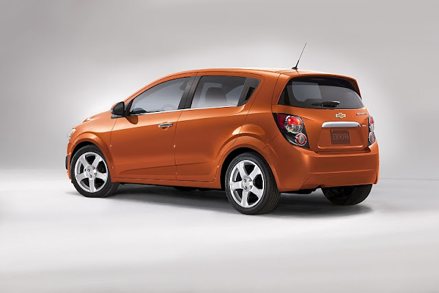2012 chevrolet sonic hatchback rear side view 2012 Chevrolet Sonic Hatchback