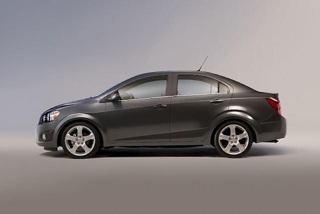 2012 chevrolet sonic sedan side view 2012 Chevrolet Sonic Sedan