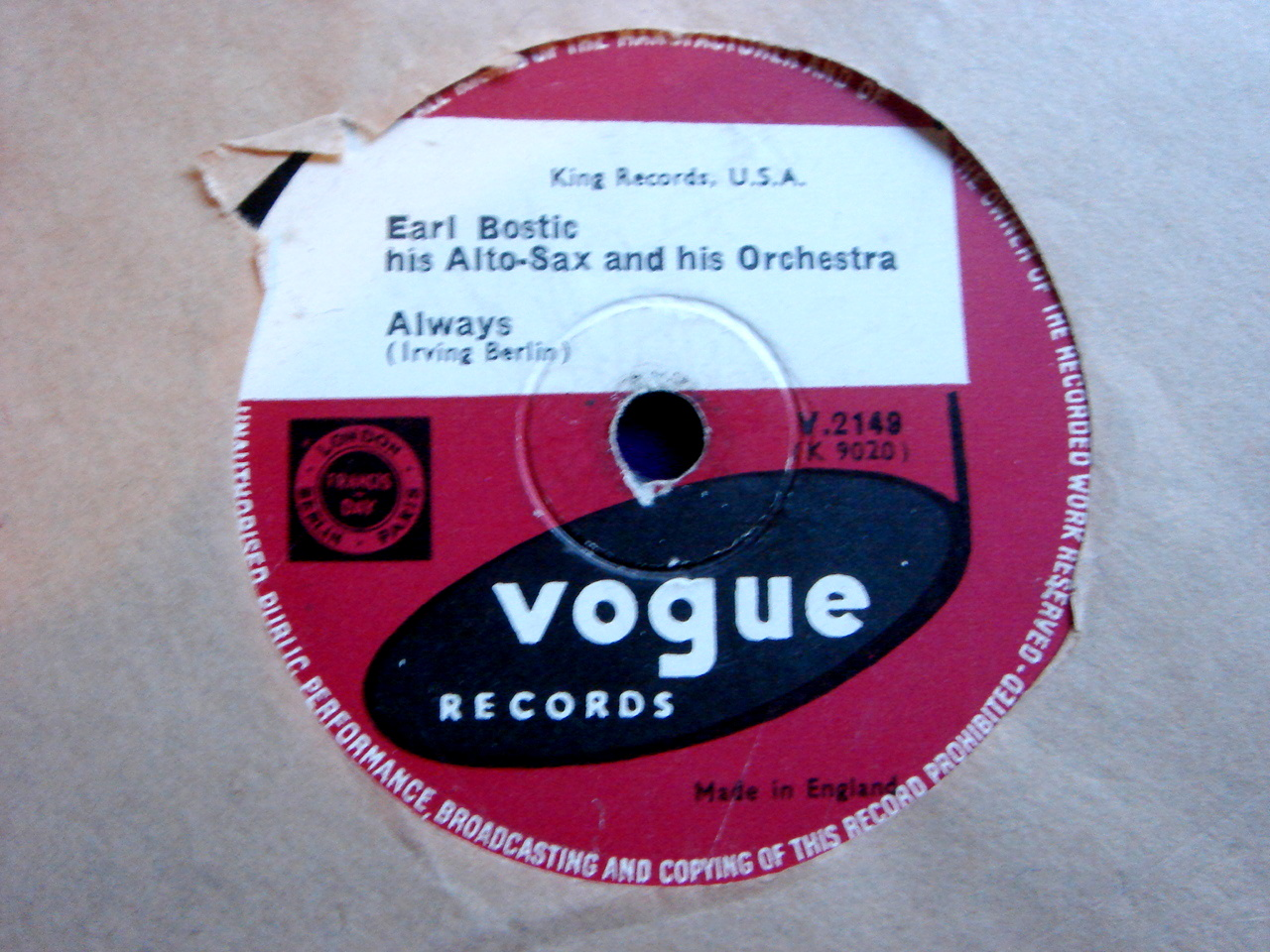EARL BOSTIC --All His Hits