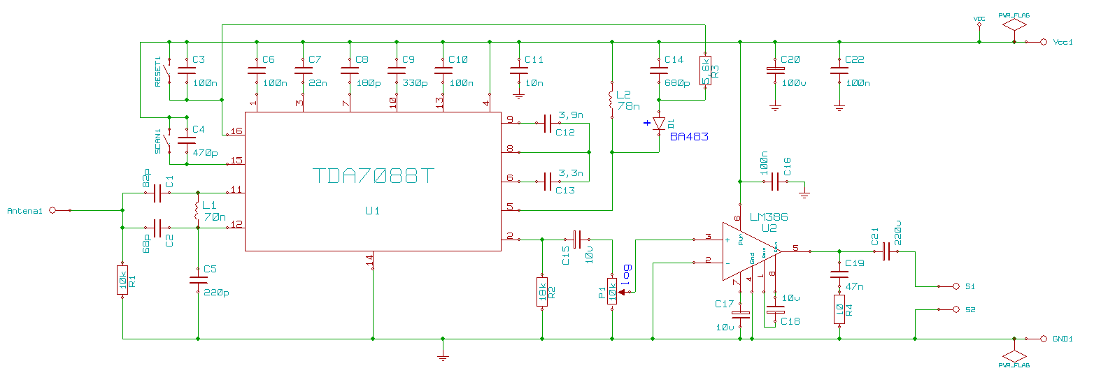 Tda7088 receiver diagram