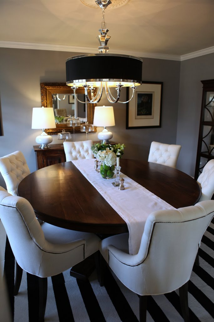 Knight moves cooking up a dining room for Small round dining table decorating ideas