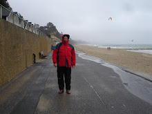 Hubby on Bournemouth Beach