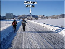 Desierta carretera nevada