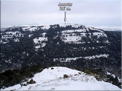 Amaritu visto desde la punta sur de Arrato