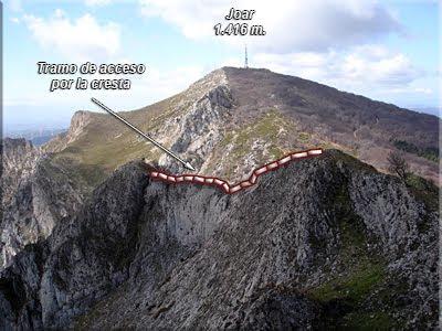 Vertiginoso tramo el de la cresta
