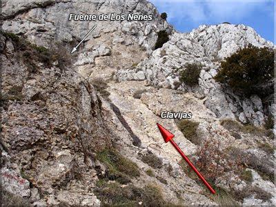 Pequeña escalada antes de la fuente