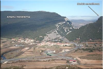 Vista del Desfiladero de Tetxa desde la cresta de San Vítores