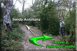 Desvío a la Peña del Castillo